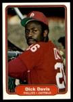 1982 Fleer #245  Dick Davis  Front Thumbnail