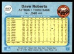 1982 Fleer #227  Dave Roberts  Back Thumbnail