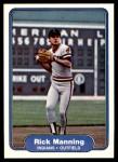 1982 Fleer #374  Rick Manning  Front Thumbnail