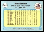 1982 Fleer #341  Jim Essian  Back Thumbnail
