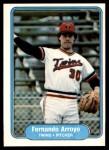 1982 Fleer #546  Fernando Arroyo  Front Thumbnail