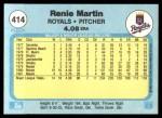 1982 Fleer #414  Renie Martin  Back Thumbnail