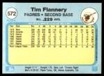 1982 Fleer #572  Tim Flannery  Back Thumbnail