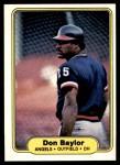 1982 Fleer #451  Don Baylor  Front Thumbnail