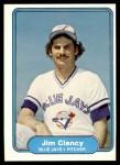 1982 Fleer #612  Jim Clancy  Front Thumbnail