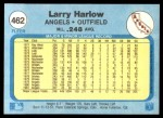 1982 Fleer #462  Larry Harlow  Back Thumbnail
