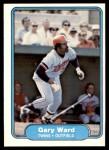 1982 Fleer #562  Gary Ward  Front Thumbnail