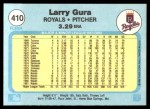 1982 Fleer #410  Larry Gura  Back Thumbnail