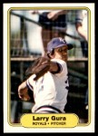 1982 Fleer #410  Larry Gura  Front Thumbnail