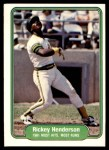 1982 Fleer #643   -  Rickey Henderson In Action Front Thumbnail