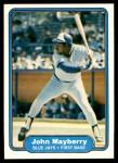 1982 Fleer #619  John Mayberry  Front Thumbnail