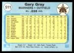 1982 Fleer #511  Gary Gray  Back Thumbnail
