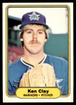 1982 Fleer #508  Ken Clay  Front Thumbnail