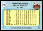 1982 Fleer #532  Mike G. Marshall  Back Thumbnail