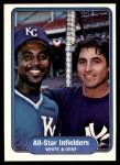 1982 Fleer #629   -  Frank White / Bucky Dent All Star Infielders Front Thumbnail