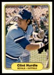 1982 Fleer #411  Clint Hurdle  Front Thumbnail