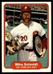 1982 Fleer #637   -  Mike Schmidt 1981 Home Run King Front Thumbnail