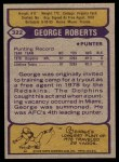 1979 Topps #322  George Roberts  Back Thumbnail