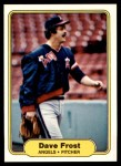 1982 Fleer #460 B Dave Frost  Front Thumbnail
