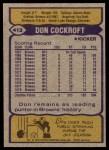 1979 Topps #413  Don Cockroft  Back Thumbnail