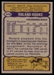 1979 Topps #379  Roland Hooks  Back Thumbnail