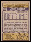 1979 Topps #431  Jimmy Robinson  Back Thumbnail
