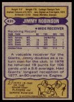 1979 Topps #431  Jimmy Robinson  Back Thumbnail