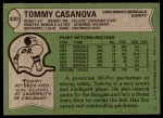 1978 Topps #330  Tommy Casanova  Back Thumbnail