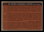 1972 Topps #312   -  Clay Carroll In Action Back Thumbnail