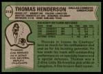 1978 Topps #213  Thomas Henderson  Back Thumbnail