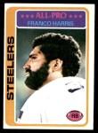1978 Topps #500  Franco Harris  Front Thumbnail
