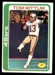 1978 Topps #77  Tom Wittum  Front Thumbnail
