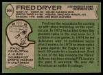 1978 Topps #366  Fred Dryer  Back Thumbnail