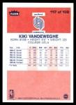 1986 Fleer #117  Kiki Vandeweghe  Back Thumbnail