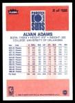 1986 Fleer #2  Alvan Adams  Back Thumbnail