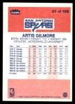 1986 Fleer #37  Artis Gilmore  Back Thumbnail