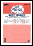 1986 Fleer #8  Benoit Benjamin  Back Thumbnail