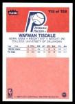 1986 Fleer #113  Wayman Tisdale  Back Thumbnail