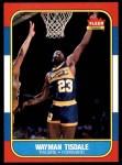 1986 Fleer #113  Wayman Tisdale  Front Thumbnail