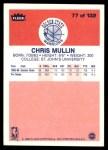 1986 Fleer #77  Chris Mullin  Back Thumbnail