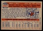 1957 Topps #264  Bob Turley  Back Thumbnail