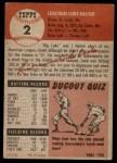 1953 Topps #2  Luke Easter  Back Thumbnail