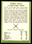1963 Fleer #40  Tommy Davis  Back Thumbnail