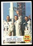 1969 Topps Man on the Moon #51 B James McDivitt / David Scott / Russell Schweickart Hi There Front Thumbnail