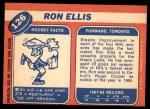 1968 Topps #126  Ron Ellis  Back Thumbnail