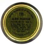 1964 Topps Coins #111   Albie Pearson   Back Thumbnail