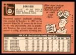 1969 Topps #229  Don Lock  Back Thumbnail