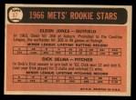 1966 Topps #67   -  Cleon Jones / Dick Selma Mets Rookies Back Thumbnail