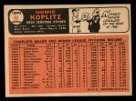 1966 Topps #46  Howie Koplitz  Back Thumbnail