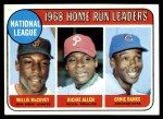 1969 Topps #6   -  Willie McCovey / Rich Allen / Ernie Banks NL HR Leaders Front Thumbnail